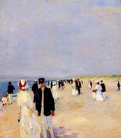 Beach of Norderney - Albert Weisberger 1910German 1878-1915