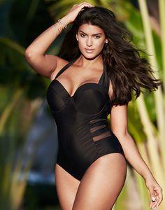 Sexy Women Plus Size Push-up Padded Bra Halter-neck One-piece Swimwear Swimsuit  #Feelings #OnePiece