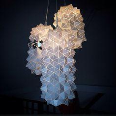 Triple Geodesic Sculptural Pendant Lamp van BrittaGould op Etsy, €460.00