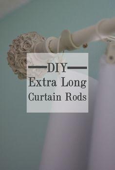 DIY Inexpensive Custom Curtain Rods | Creative House Blog