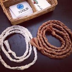 """The 15 minute braided """"rope"""" belt for Wilderness Escape VBS costumes.  Just 3 long strips of old sheets and voila!"""