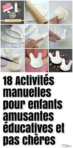 18 Activités manuelles pour enfants amusantes éducatives et pas chères