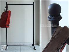 Wood Hanger 1円 丸鉄アイアンハンガー 黒 手作り 北欧 鉄製 ポールハンガー アンティーク インテリア 雑貨 家具 Antique ¥3201yen 〆05月15日