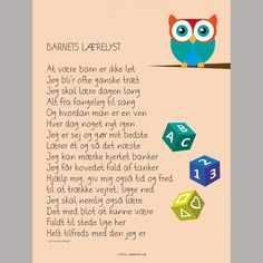 Plakat: Barnets lærelyst Indoor Activities For Toddlers, Work Activities, Baby Words, Kids Poster, Illustrations And Posters, Learn To Read, Kids And Parenting, Wise Words, Favorite Quotes