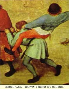 Riding your back while you hold on. Dutch: Childrens Games (detail) 6 by Pieter the Elder Bruegel Online Painting, Hand Painting Art, Pieter Brueghel El Viejo, Renaissance, Medieval Games, Pieter Bruegel The Elder, Dutch Painters, Free Prints, Middle Ages