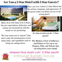 Is it time to upgrade your guest list?  #fabulousuniversity #5Star