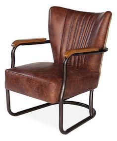 This Mocha Brown Laguana Armchair by Sarreid Ltd. is perfect! #zulilyfinds