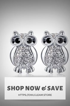 Shop now & save 15% OFF use code : PRECIOUS15  #owl #owlearring