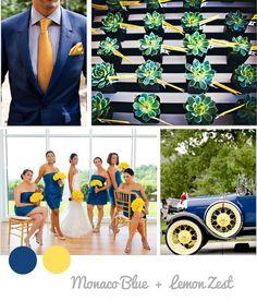 Colores primavera boda 2013 pantone amarillo y azul marino