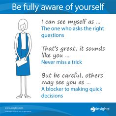 Be fully aware of yourself - Insights Discovery Cool Blue Colour Energy