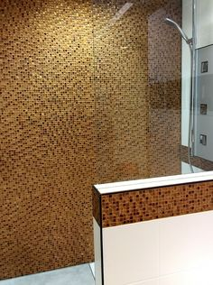 Goldener Herbst   Dusche Mit BÄRWOLF Glasmosaik TUSCANY. Feels Like Indian  Summer   Shower With Glas Mosaic TUSCANY By BÄRWOLF. #bärwolf #glasmosaik # Mosaik ...