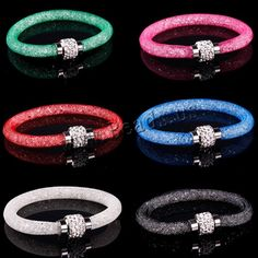 Cheap price! Mesh Bracelets With Crystal stones Filled Magnetic Clasp Charm Bracelets Bangles 9 color. Yesterday's price: US $0.76 (0.63 EUR). Today's price: US $0.62 (0.51 EUR). Discount: 19%.