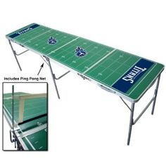 Tennessee Titans Portable NFL Tailgate Beer Pong Table - 8 Foot (Misc.)