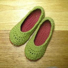 Neat and simple crocheted slippers. I have made several pairs of these and they r the easiest and very comfy!