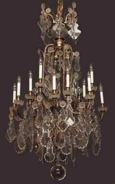 antique crystal chandeliers | Antique French Baccarat Crystal Chandelier - CHC9 For Sale | Antiques ...