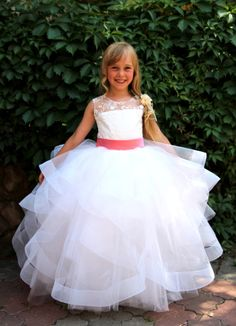Hey, I found this really awesome Etsy listing at https://www.etsy.com/listing/243707150/white-flower-girl-dress-wedding-party