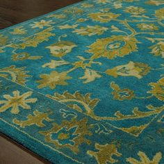 nuLOOM Overdye Turquoise Overdyed Area Rug & Reviews | Wayfair 8x10 $363