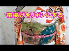 2016 振袖の帯揚げ かわいい結び方 リボンにしてみたよ♡Traditional Japanese Kimono/辻が花 - YouTube