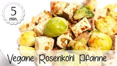 Vegane Rosenkohl-Pfanne - Rezept von 5 Minute Recipes Potato Salad, Potatoes, Ethnic Recipes, Food, Youtube, Vegan Main Dishes, Food Food, Meal, Potato