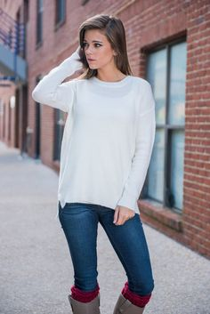 All About Ease Sweater, Ivory