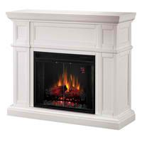 Fireside America Classic Flame 28 Inches Artesian Electric Fireplace - White #modern #home #furniture #fireplaces