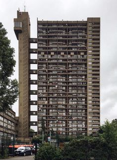 """With béton brut (""""raw concrete"""") as its namesake and primary material, Brutalism initially surfaced in the middle of the century, in part as a q. Modern Architecture Design, Architecture Portfolio, Council Estate, Brutalist Buildings, Tower Block, Social Housing, Built Environment, London City, Exterior Design"""