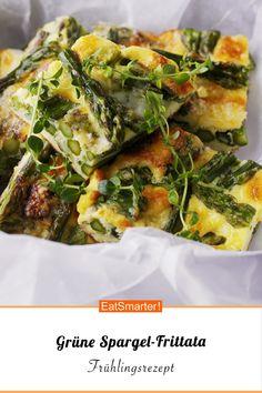 Grüne Spargel-Frittata | eatsmarter.de Spanakopita, Low Carb Keto, Quiche, Potato Salad, Eat Smarter, Paleo, Brunch, Veggies, Food And Drink