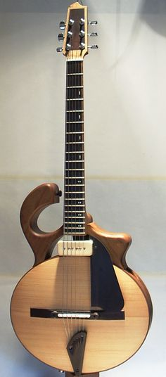 Smoothtalker ~ Mervyn Davis - Great shot of this unique guitar. Pin by: Bruce Linker