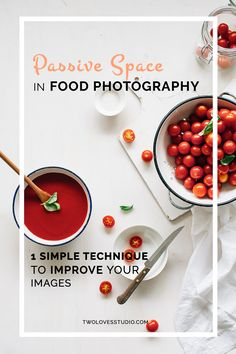 Passive Space in Food Photography 1 Simple technique to improve your food photography to create more powerful images in now time. Food Styling, Photo Hacks, Photo Tips, Space Food, Food Photography Styling, Photography Jobs, Photography Backdrops, Photography Hashtags, Pink Photography