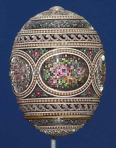 The 1914 Faberge Mosaic Egg, one of four Faberge eggs among the Royal Collection of Britain's Queen Elizabeth ll, by Eva