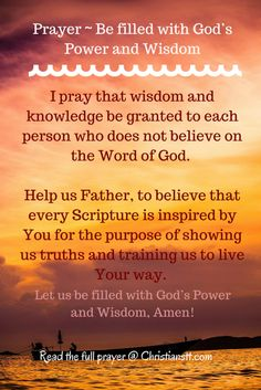 Be Filled with God's Wisdom and Power