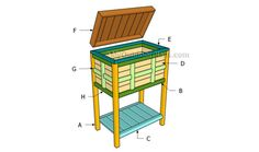 Building a wooden cooler