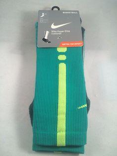New Nike Hyper Elite Basketball Crew Mens Socks Shoe Size 8-12 Gift L, Teal #Nike #Athletic