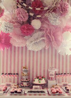 Beautiful Backdrop Dessert Table