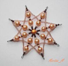 Malá vánoční hvězda 5 meruňkovohnědá