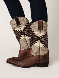 into southerwestern/native remix - these boots are TO DIE spotted on Radiant Republic this afternoon