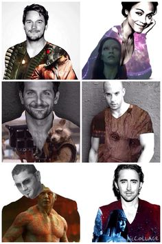 Guardians of the Galaxy cast (made by Olivia Tornes)
