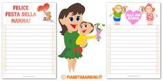 Letterine per la festa della mamma pronte da stampare gratis