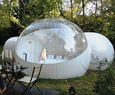 Inflatable Bubble Tent It features a large bedroom and 2 tunnels so there is plenty of space to move around and store your things. www.awesomeinventions.com/shop/inflatable-bubble-tent/