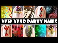 NEW YEAR PARTY NAILS | GLITTER NAIL ART DESIGN TUTORIALS EASY SIMPLE BEGINNERS DECAL FOR SHORT NAILS video meliney