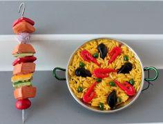 Paella and Shish Kebab ornaments | The Culinary Cellar