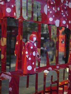 Kusama Window at Selfridges, via Flickr.