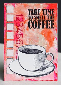 Card by Anneke De Clerck using Darkroom Door Coffee Time Rubber Stamp Set. http://www.darkroomdoor.com/rubber-stamp-sets/rubber-stamp-set-coffee-time