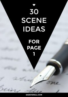 Opening scene ideas - wondering how to start a story?
