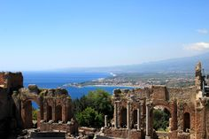 Greek theater Sicily Taormina - See more at: http://chambersarchitects.com/blog/248-taormina-sicily-refuge-for-ancients-artists-and-writers.html#sthash.V6tcTDnP.dpuf And read all of our blogs at: http://chambersarchitects.com/blog.html