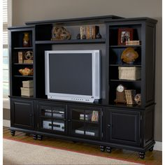 """Grand Bay 96"""" TV Entertainment Wall Unit Hillsdale Furniture   TV Stand Entertainment Console Media Wall Center Chest"""
