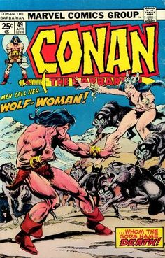 Conan  the  Barbarian  # 49  with  Wolf -- Woman