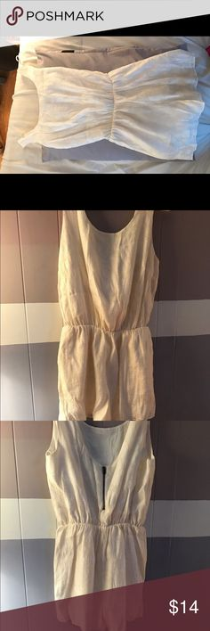 Forever 21 Romper Forever 21 gold and white romper with open back and small zipper Forever 21 Pants Jumpsuits & Rompers