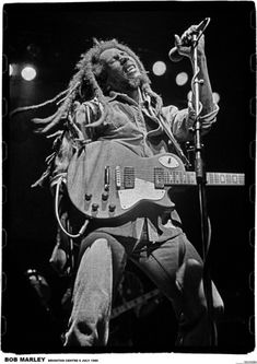 A great poster of reggae legend Bob Marley! Jammin' at the Brighton Centre in July of shortly before he passed away. Check out the rest of our Natty selection of Bob Marley posters! Need Poster Mounts. Bob Marley Legend, Reggae Bob Marley, Reggae Rasta, Rasta Man, Reggae Music, Rock Music, Rasta Music, Reggae Style, Damian Marley