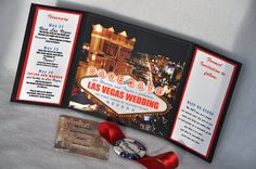 INVITES- Las Vegas Save the Date Invitation: Upscale Custom Save the Date Last Vegas Invitation. $4.25, via Etsy.